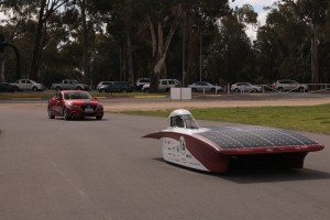 was rooting for the Mazda to pass the solar car