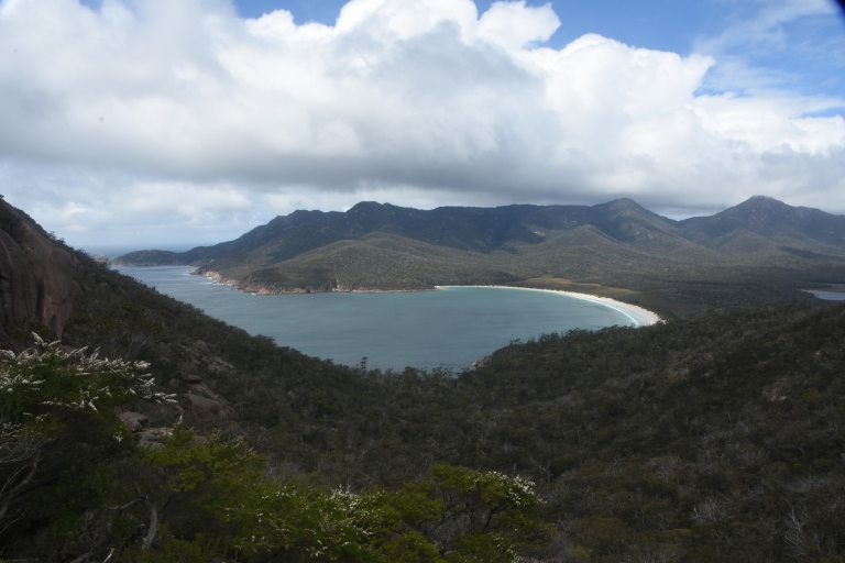 the iconic shot of Wineglass Bay