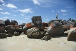 Hayden and rocks