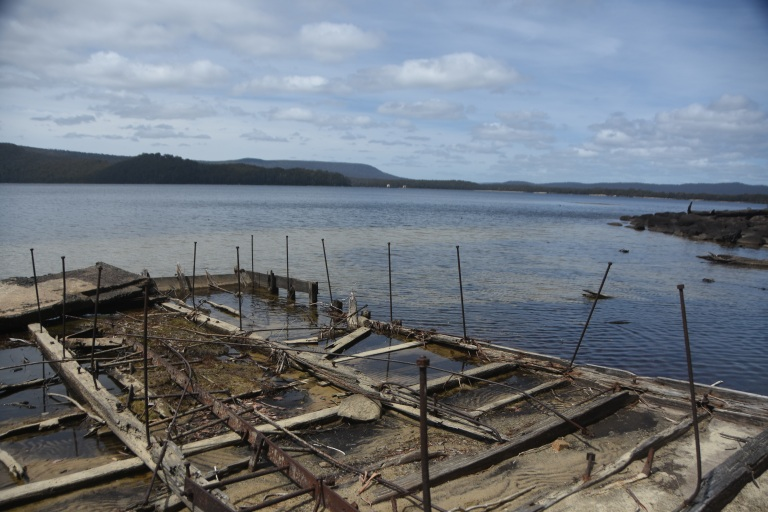 the wreckage at Platypus Bay