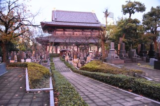 Zozoji Temple and graveyard