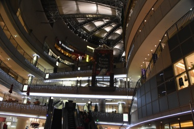 the mall and our hotel
