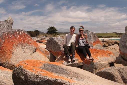 proof that both Hayden and myself were together at the Bay of Fires