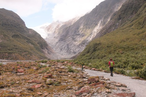 walking towards the glacier