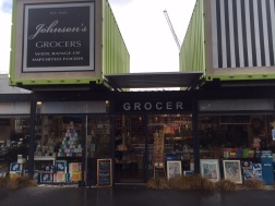 Johnson's Grocer straight ahead