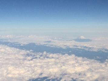 Mount Fuji between Osaka and Tokyo