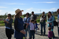 tour guide explains farming