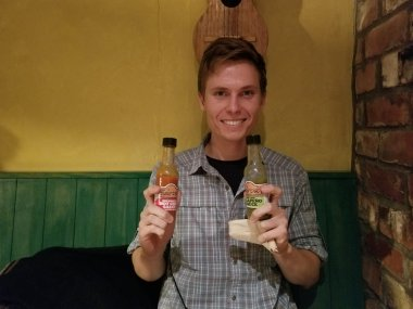 Hayden <3 hot sauce