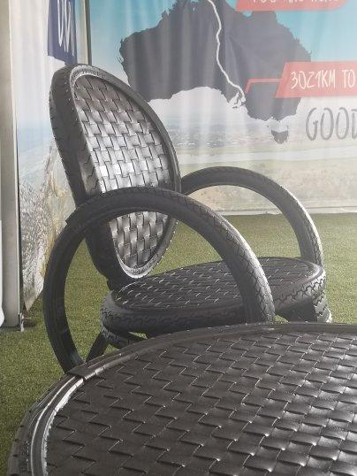 solar car tire chair