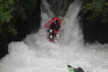 7 meter waterfall